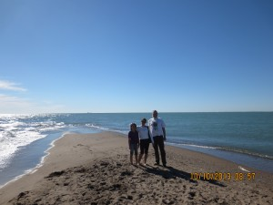 Me and my family at the Southern Most tip of Canada